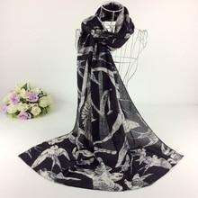 baab1fbd159a3 Character Swallow Print Ladies Scarves Rayon Scarf Shawls and Hijabs Head Wraps  Cape Muslim Hijab Scarf