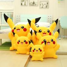 13 pikachu New pokemon Soft Stuffed Animal Plush toy smilling doll birthday gift dropping shopping