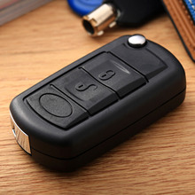 Replacement Flip Car Key Shell Remote Folding Key Fob Case Cover Uncut Blade for Range Rover Sport Land Discovery 3 Rover car styling 3 button folding flip car key case for kia rio remote key fob cover replacement with uncut blade