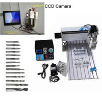 IC remover 6040 CNC engraver wood lathe router 1500w rotartion axis with CCD camera