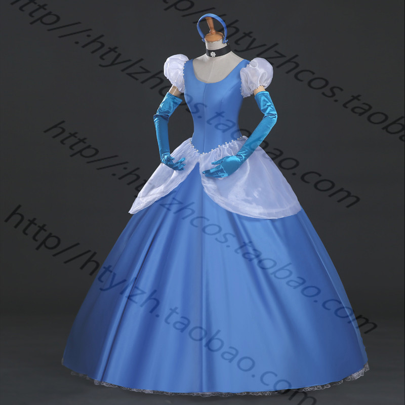 Hot Movie Princess Cinderella Dress Prom Gown Cosplay Costume Adult Girl the little mermaid ariel princess dress cosplay adult ariel mermaid costume women mermaid princess ariel green dress cosplay
