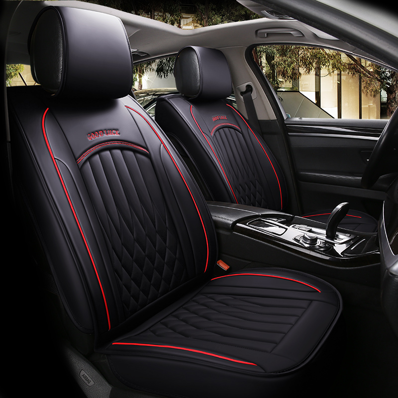 Le siège de voiture universel automatique de luxe de cuir d'unité centrale couvre les couvertures de siège des véhicules à moteur