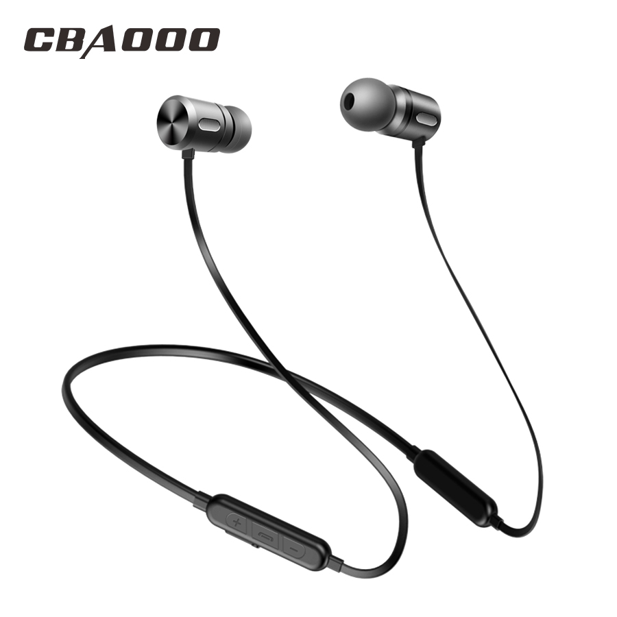 CBAOOO BC10 Bluetooth Earphone Headphones Sport Wireless Earbuds Stereo Bass Headset Handsfree With Mic For Phones Xiaomi Iphone