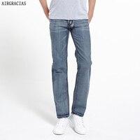 AIRGRACIAS Brand Jeans Retro Nostalgia Straight Denim Jeans Men Plus Size 28 38 Men Long Pants