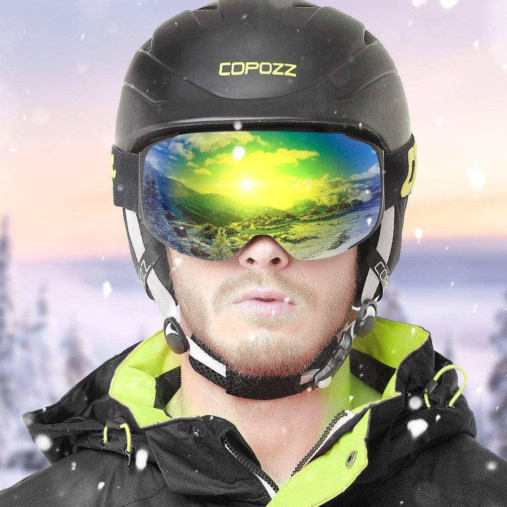 COPOZZ Magnétique Lunettes de Ski avec Interchangeables Jaune Lentille Anti-buée et UV400 Protection Snowboard Lunettes pour Adulte Hommes Femmes - 2