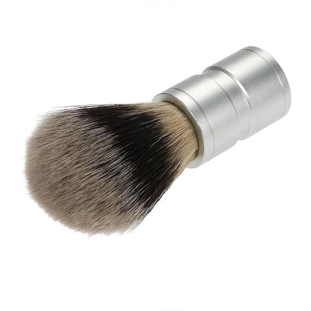 msmask Black Professional Badger Shaving Brush Aluminum Handle Mustache Brushes Men Cleansing Barber