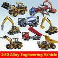 Aleación de coches, 1: 60 vehículos de construcción de aleación, Colección modelo de camión, Miniaturas y Vehículos de Juguete, Excavadoras, camiones de juguete del coche, al por mayor