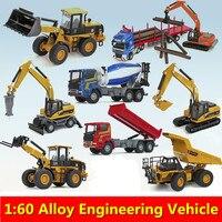 Legering cars, 1: 60 legering bouwvoertuigen, Collectie truck model, Diecast & Toy Voertuigen, Graafmachines, vrachtwagens speelgoed auto, groothandel