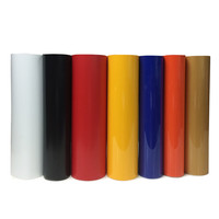PVC Vinyl from Korea, PVC Heat Transfer Film From Korean 0.51cm*1.0m/roll 17 Colors you can choose