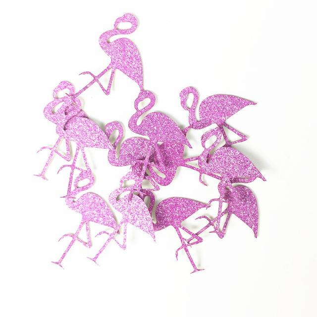 Glittery Flamingo 100 pcs Set