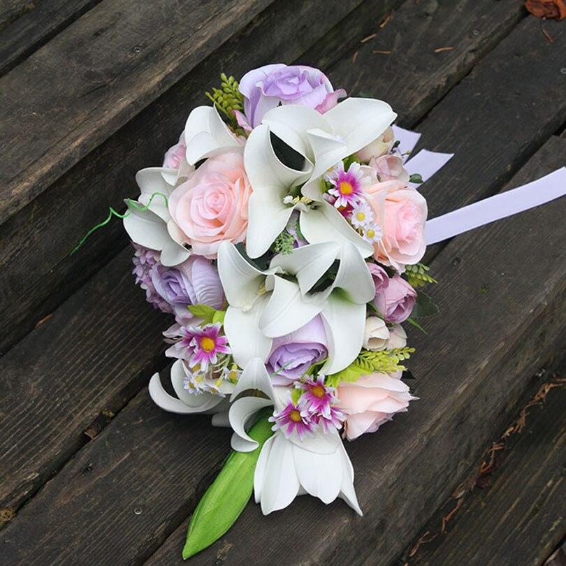 Bouquet De Mariee Blanc Rose Blanc De Mariage Bouquets Cascade