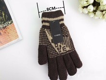 GLV899 Men Double layer knitted winter cycling outdoor sports font b gloves b font five fingers