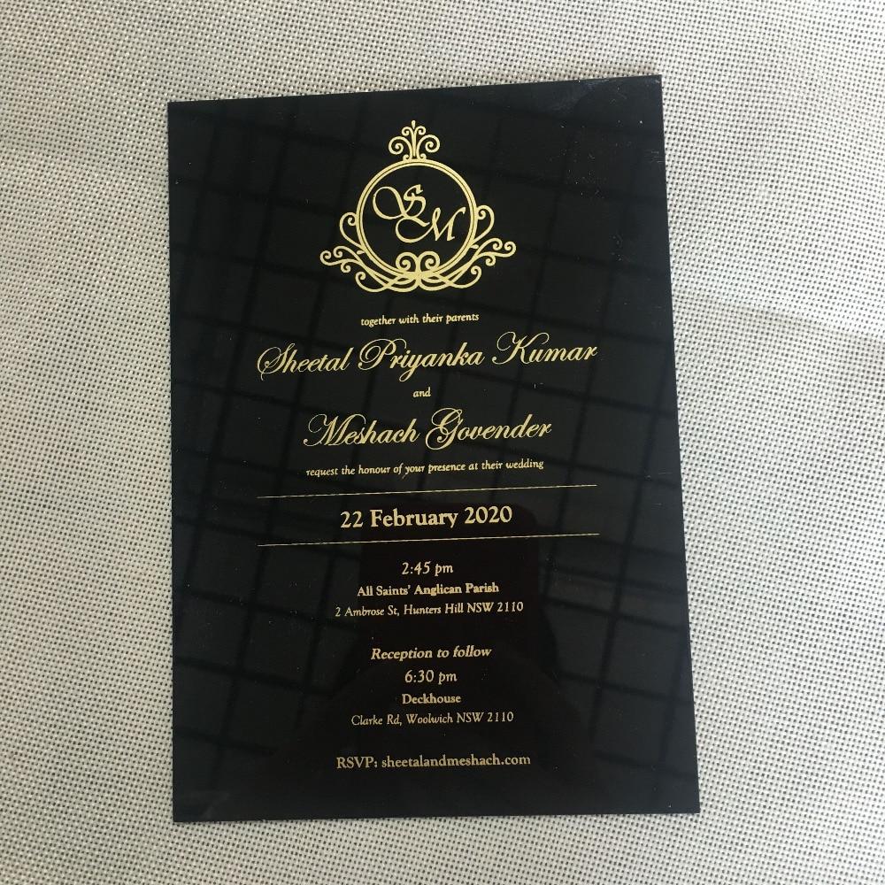 Elegant Wedding Invitation Cards Design: 2019 Fancy Elegant Personalize Laser Cut Black Acrylic