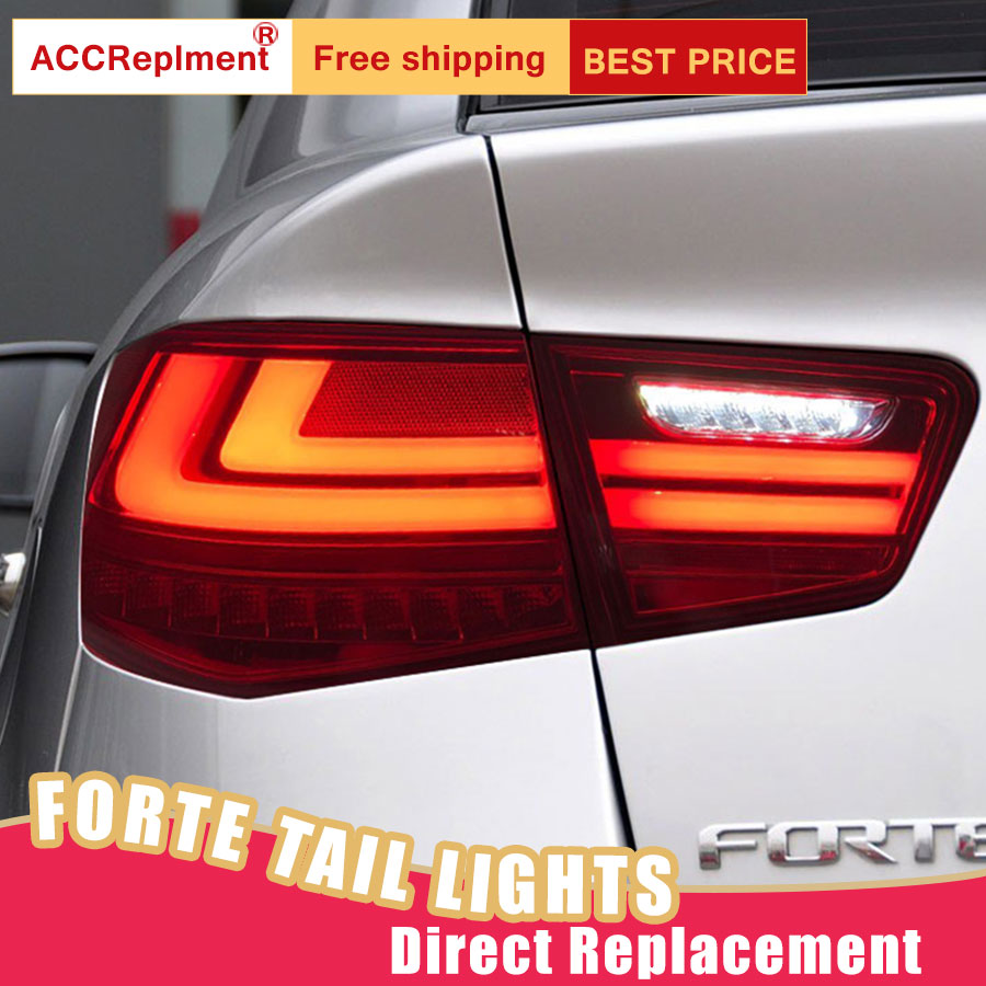 Car Styling LED Tail Lamp for Kia Forte Tail Lights 2010 2013 for Forte Rear Light