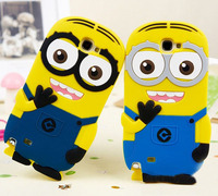 Lovely Silicone Minion Case For Samsung Galaxy Note 2 N7100 Cover