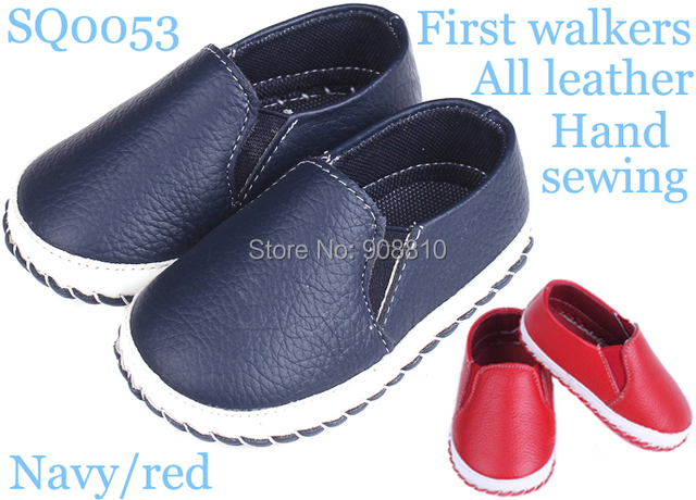 Brand new!baby shoes leather girls boys soft sole with buckle first walkers white rose brown handmade prewalker wholesale retail