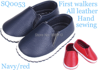 Brand New Baby Shoes Leather Girls Boys Soft Sole With Buckle First Walkers White Rose Brown
