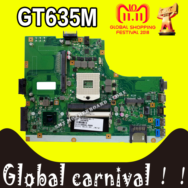 K55VM Motherboard GT635M-REV:2.0/2.2 For ASUS K55VM A55V K55V K55VJ laptop Motherboard K55VJ Mainboard K55VM Motherboard test ok k55a motherboard rev 3 0 3 1 hm76 for asus a55v k55v k55vd laptop motherboard k55a mainboard k55a motherboard test 100% ok