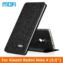 redmi note4 Case Stand holder TPU soft cover 5.5″ case Original Mofi brand Flip Leather Case For Xiaomi Redmi Note 4 phone case