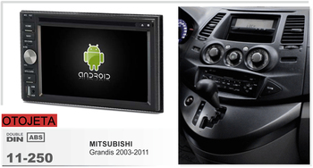 (frame+DVD series) fit for Mitsubishi grandis 2003-2011 Navirider octa cores android 8.0 radio head units GPS multimedia player