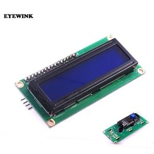 Image 1 - 10pcs LCD1602 + I2C LCD 1602 모듈 청색/황색 녹색 화면 IIC/I2C LCD1602 IIC LCD1602 어댑터 플레이트