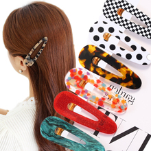Girl Geometric Waterdrop Fashion Hair Accessories Vintage Hollow Women Hairpin Korea Acrylic Clips
