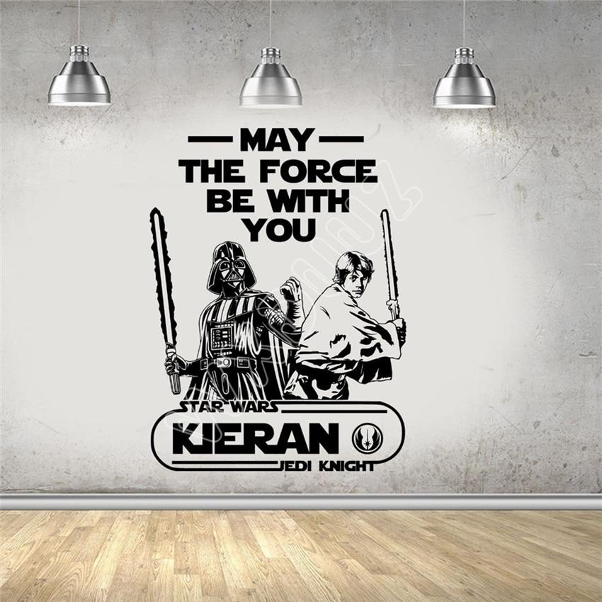 Wxduuz Star Wars Luke Skywalker Darth Vader personalizado Wall Art sticker/vinilo Decal salón espacio pared B530