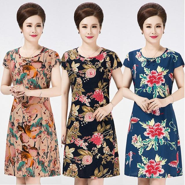 XL-5XL Big Size Women Summer dresses plus size beach dress 2017 new casual  print 1ea2cb0d7a78