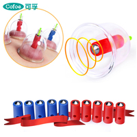 Cofoe 24PCS Medical Vacuum Cupping Plastic Cups Suction for Acupuncture Body Massager of Chinese Medical For Cold & Flu Relief