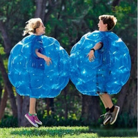 2pcs 60CM Inflatable Bubble Bumper Balls Body Collision Ball Tpu Friendly For Kids Outdoor Activity Funny Body Punching Ball