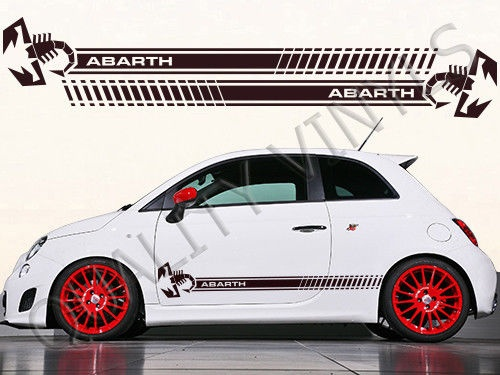 For 1set 2pcs Fiat Abarth Racing Stripes Side Graphic Decal Rs 595 Car Styling In Car Stickers From Automobiles Motorcycles On