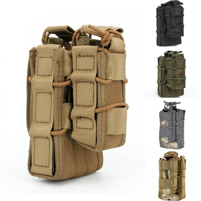 CQC Molle System AR15 Open Top m4 Magazine Pouch Military Accessories With Open Top Pistol Mag Pouch ...