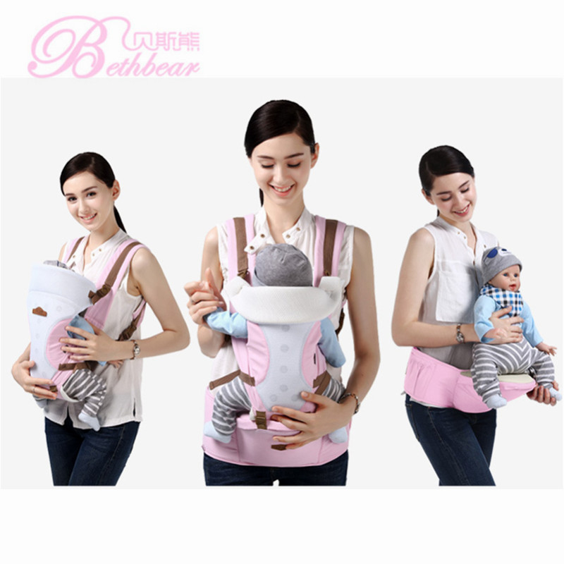 Beth Bear For 0-36m Infant Toddler Ergonomic Baby Carrier Sling Backpack Bag Gear With Hip Seat Wrap Newborn Waist Stool Belt 2016 hot portable baby carrier re hold infant backpack kangaroo toddler sling mochila portabebe baby suspenders for newborn