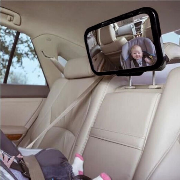 Adjustable Car Back Seat Mirror Baby Facing Rear Ward View Headrest Mount Square Safety Kids Monitor Car Seat Mirror DXY