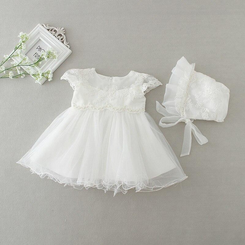 1 set infant Baby clothes birthday party wedding dress princess TUTU dress+hat
