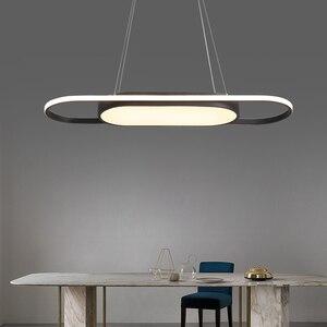 Image 3 - אורך 90cm תליית אורות לבן/שחור מודרני led אורות תליון עבור אוכל חדר Kitchent חדר בר תליון מנורה אור גופי