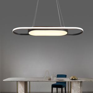 Image 3 - Length 90cm hanging lights White/Black Modern led Pendant Lights For Dining room Kitchent room Bar Pendant Lamp light fixtures