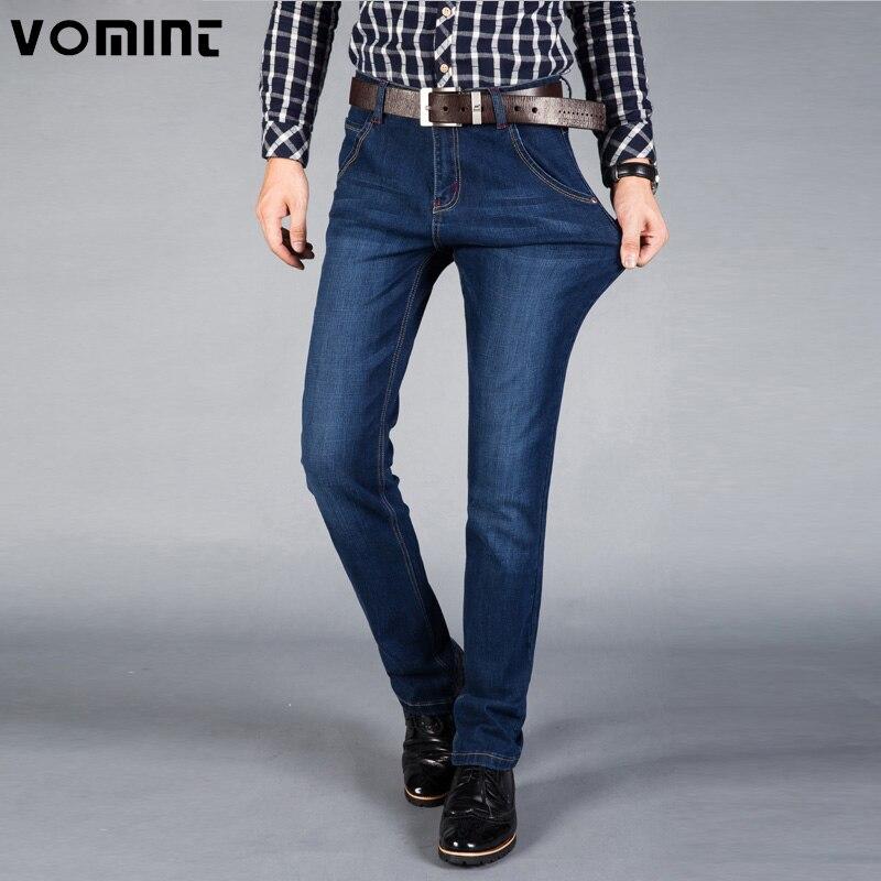 VOMINT New Jeans Men High Quality Famous Brand Denim trousers soft mens pants men's fashion Large plus size 42 44 46
