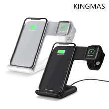 KINGMAS 2 in 1 Wireless Charger for apple i watch 1 2 3 4 Type C Fast Wireless Charging for iphone XS MAX XR X 8 Plus Samsung S9