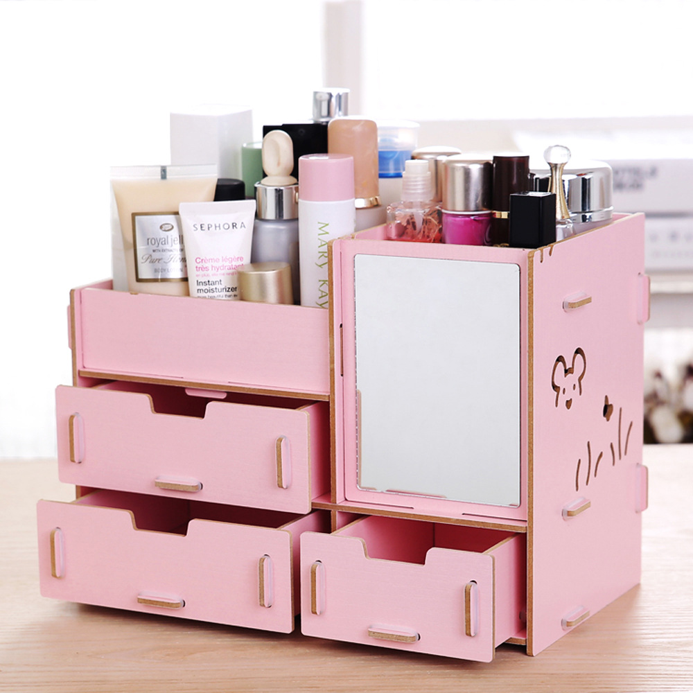 popular wooden cosmetic organizer buy cheap wooden cosmetic organizer lots from china wooden. Black Bedroom Furniture Sets. Home Design Ideas