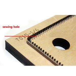 Image 5 - Japan Steel Blade DIY Leather Craft Card Holder Samll Wallet Wooden Die Cutting Knife Mould Set Hand Punch Template Tool Set