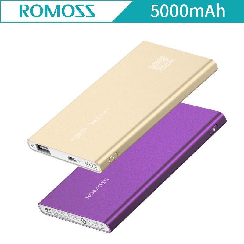 Original Romoss RT05 5000mAh Aluminum Body font b Case b font Power Bank Ultra Thin Smart