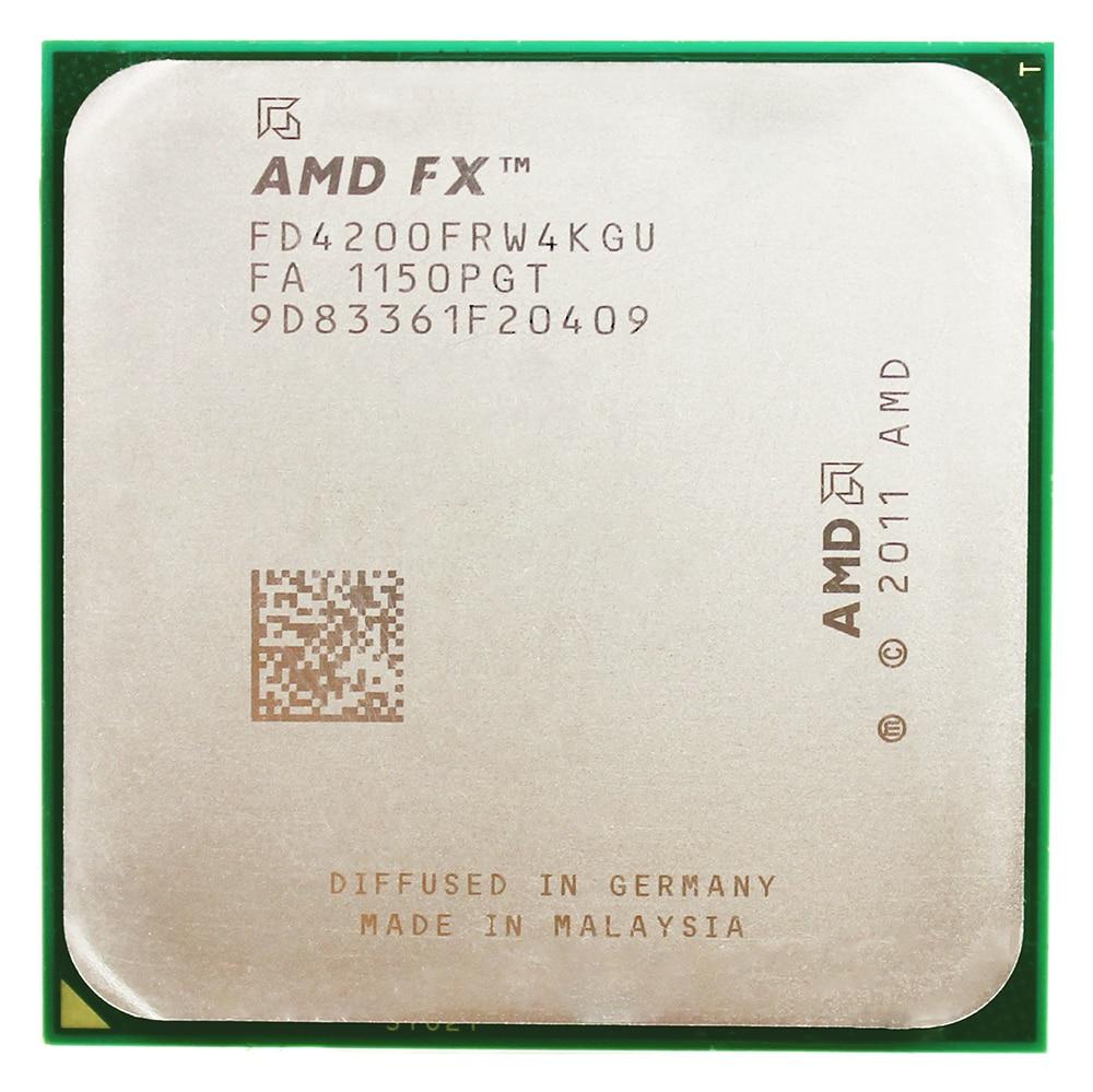 AMD FX-Series FX-4200 CPU Processor 3.3G Socket AM3+ 940pin Triple-CORE/8MB L3 Cache Used