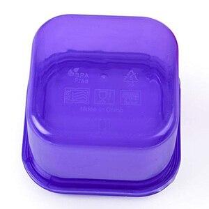 Image 5 - Caja de plástico 7 unids/set fiambrera Multi Color porción recipiente de control Kit BPA tapas libres etiquetadas Bento caja de almacenamiento de alimentos contiene