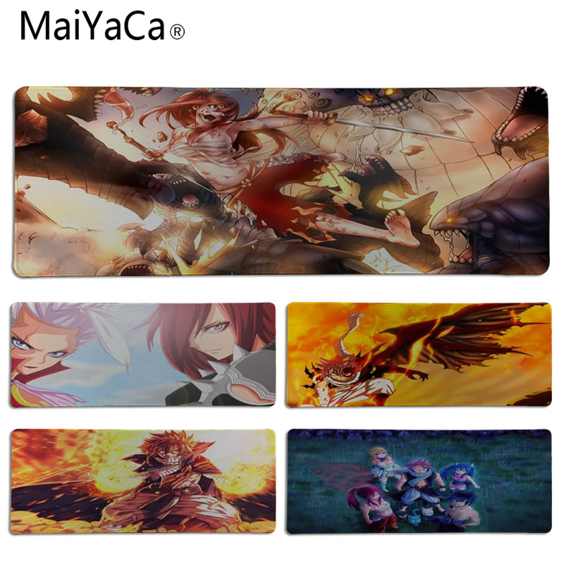 MaiYaCa Vintage Cool Fairy Tail Comfort Mouse Mat Gaming Mousepad Size for 30x60cm 30x90cm Rubber Rectangle Mousemats