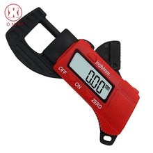 Big discount OMY 0-12.7mm Carbon Fiber Composite Thickness Gauge Caliper Digital Display Electronic Thickness Meter Width Measuring Tools