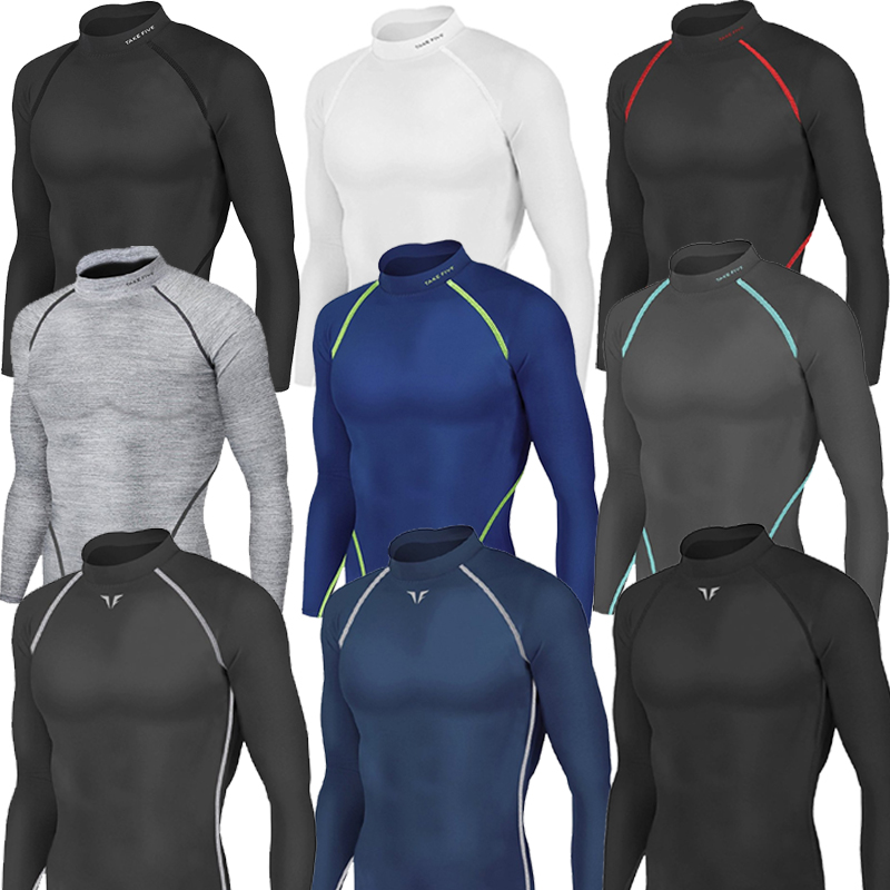 Men Winter Thermal Warm Shirts Skin Tights Compression Base Under Layer Top