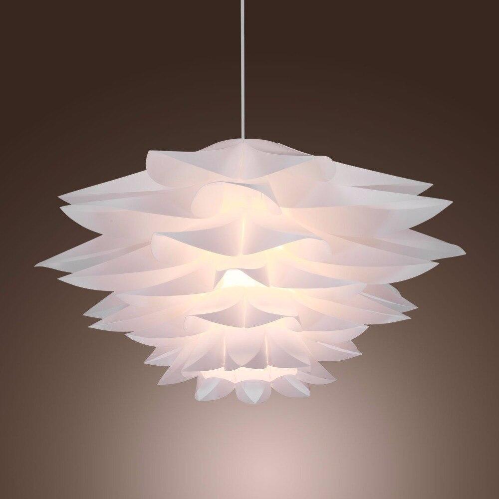 ФОТО 30CM  PP Plastic Lilies Droplight Sitting Room Restaurant PVC Flower Decorate Pendant Ceiling Lamp Cafe Bar Hall Store