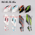 Wholesale rc helicopter v911 main blades v911-02  kit vertical tail tail blades four color package v911 Parts