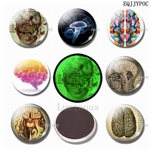 Cranium Fridge Magnet Glass Ornaments 25 MM Luminous Stickers Magnetic Crystal Refrigerator Magnets Set Home Decor арбалет пистолет ek cobra system r9